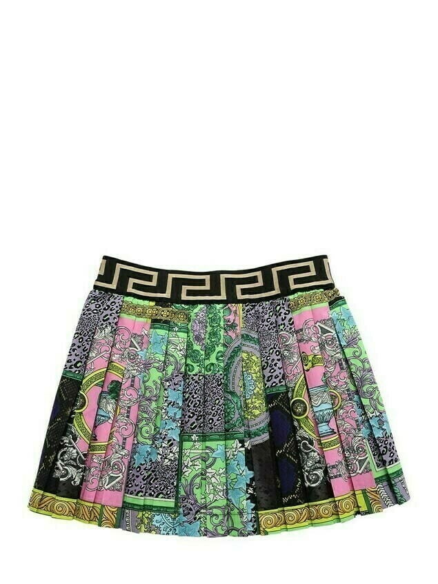 Baroque Print Cotton Poplin Skirt