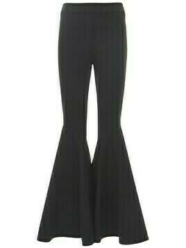 Jane Asymmetric Flared Crepe Pants