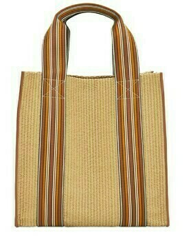 The Suitcase Woven Tote Bag W/ Leather