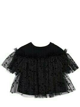 Top W/ Ruffled Star Flocked Tulle