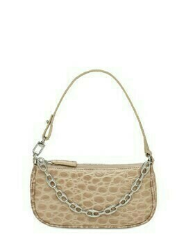 Mini Rachel Croc Embossed Leather Bag