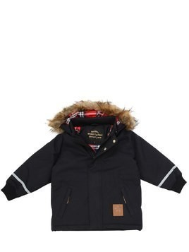 HOODED NYLON SKI JACKET