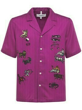 Orson Zodiac Embroidered Satin S/s Shirt