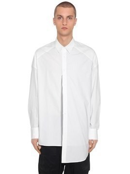 OVERSIZE PATCHWORK COTTON POPLIN SHIRT
