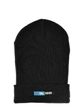 Patch Wool Blend Knit Beanie Hat