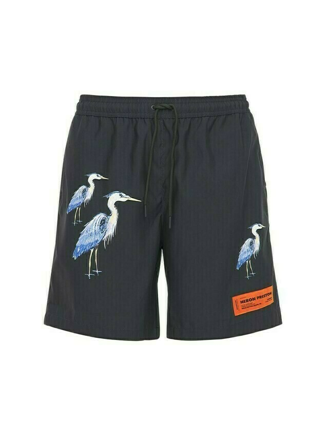 Herons Print Tech Swim Shorts