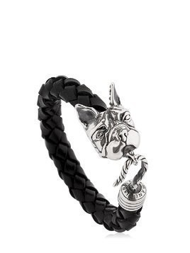 BULLDOG LEATHER & SILVER BRACELET