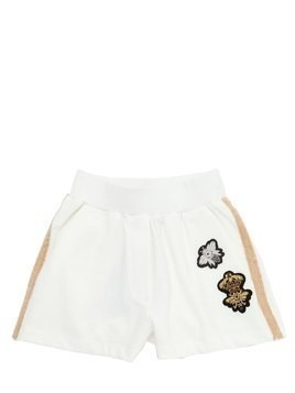 BEE PATCHES COTTON SWEAT SHORTS