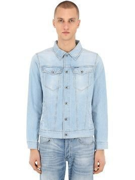 3301 SLIM COTTON BLEND DENIM JACKET