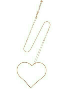 Alma Rose Gold Plated Heart Necklace