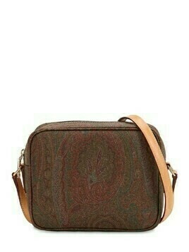 Paisley Print Coated Cotton Camera Bag