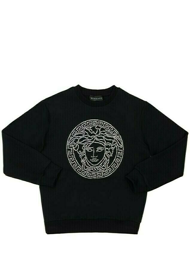Embellished Medusa Cotton Sweatshirt