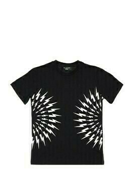 Lightning Print Cotton Jersey T-shirt