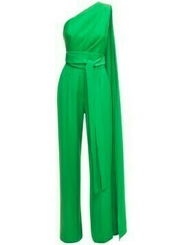 One Shoulder Crepe Jumpsuit