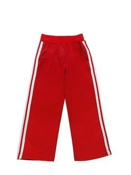 COTTON SWEATPANTS WITH SIDE BANDS