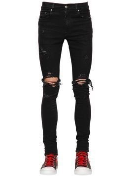 15CM TRASHER STRETCH COTTON DENIM JEANS