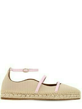 20mm Selina Cotton & Leather Espadrilles