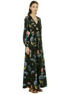 Francesca Vintage Floral Crepe Dress