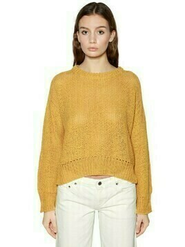 Washed Wool Knit Sweater