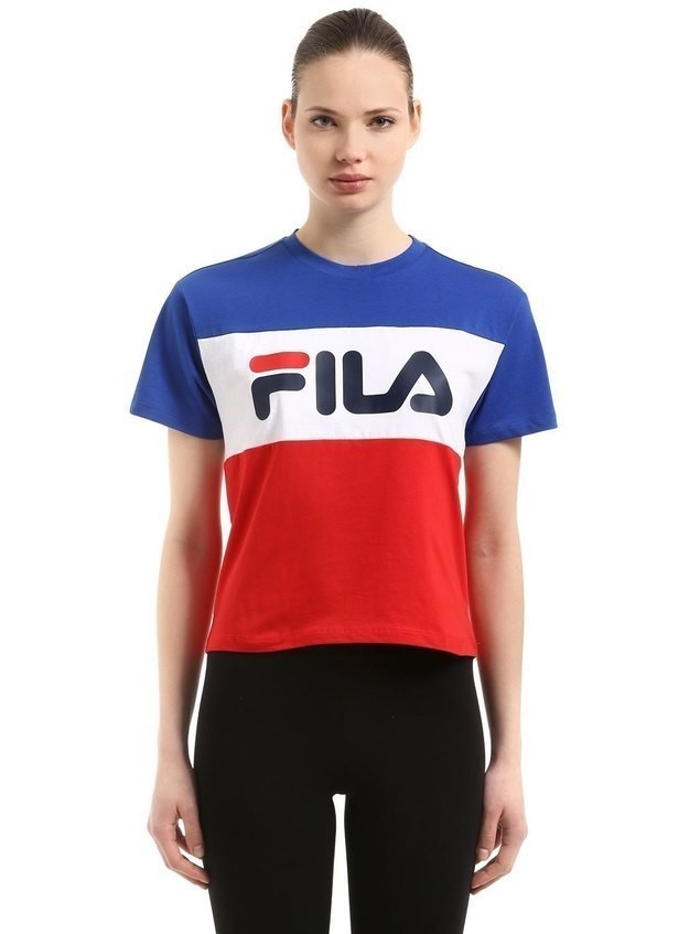ALLISON COLOR BLOCK LOGO COTTON T-SHIRT