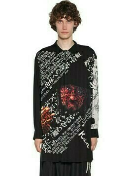 Long Yohji Print Viscose Shirt