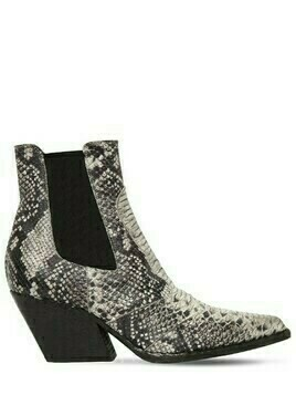 60mm Snake Print Leather Cowboy Boots