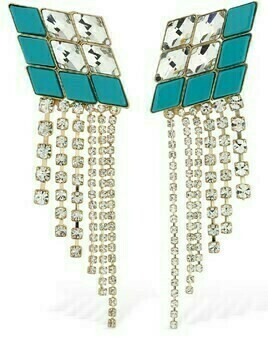 Omega Diamond Cascade Earrings