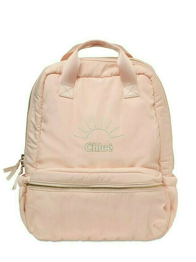 Embroidered Logo Canvas Backpack