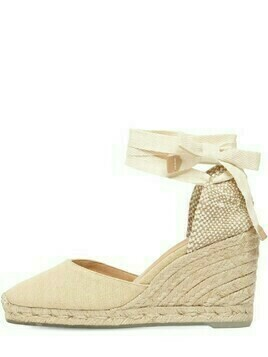 80mm Carina Eco Cotton Espadrille Wedges