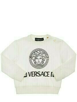 Medusa Print Cotton Sweatshirt