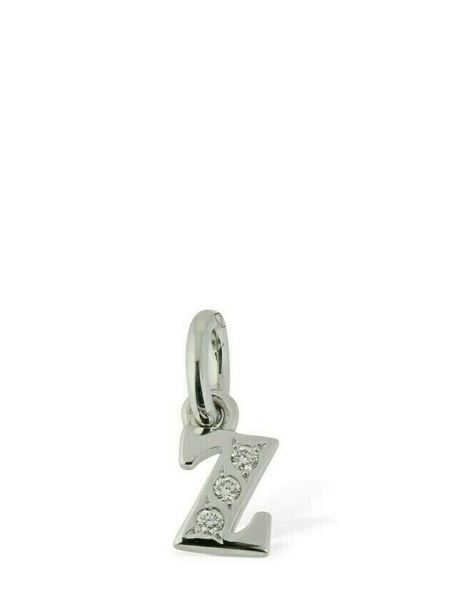"18kt White Gold ""z"" Charm W/ Diamond"