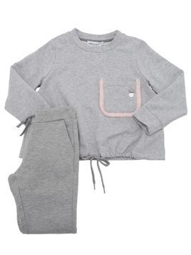 COTTON SWEATSHIRT & SWEATPANTS