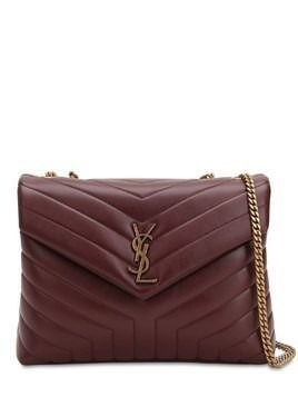 MEDIUM LOULOU MONOGRAM LEATHER BAG
