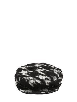 MARINA HOUNDSTOOTH CAPTAIN'S HAT