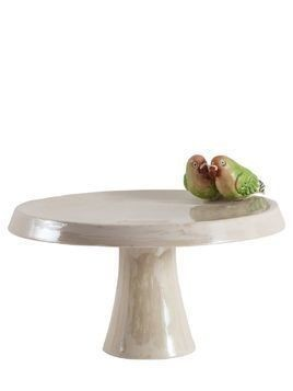 INSEPARABLE BIRDS PORCELAIN CAKESTAND