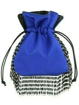 Nanotrilly Satin Clutch W/crystal Fringe