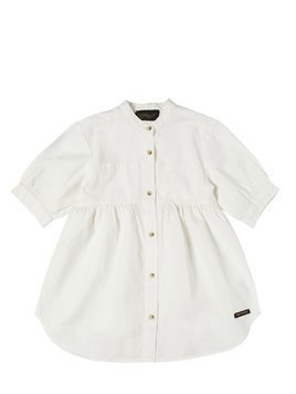 COTTON OXFORD DRESS W/ BUTTONS