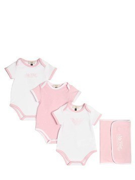 SET OF 3 COTTON JERSEY BODYSUITS