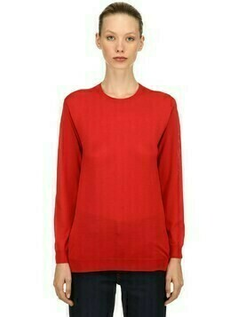 Brushed Virgin Wool Knit Sweater