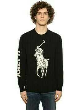 Loryelle Pony Merino Wool Knit Sweater
