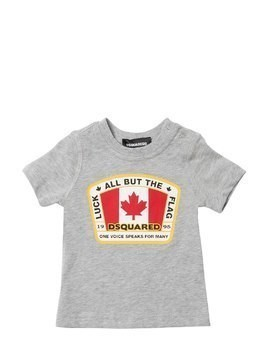 CANADIAN FLAG COTTON JERSEY T-SHIRT