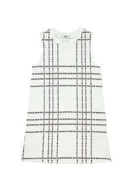 LOGO PRINT COTTON JERSEY DRESS