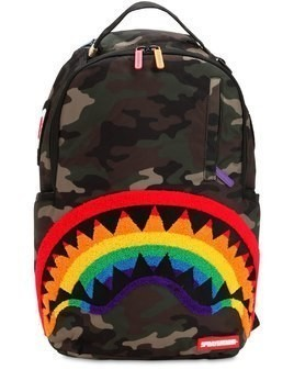 CHENILLE SHARK RAINBOW BACKPACK
