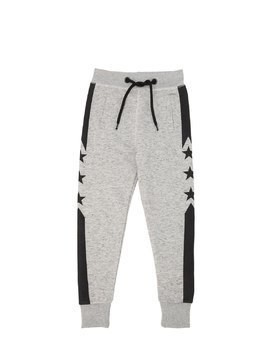 STAR PRINTED COTTON SWEATPANTS