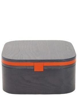 GOCCIA SQUARE LEATHER & WOOD CONTAINER