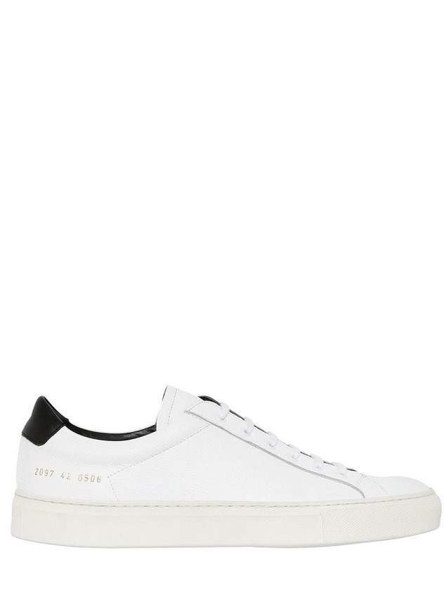 ACHILLES RETRO LOW LEATHER SNEAKERS