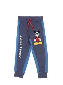 MICKEY MOUSE PRINT COTTON SWEATPANTS