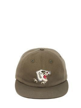 TIGER EMBROIDERED CANVAS BASEBALL HAT
