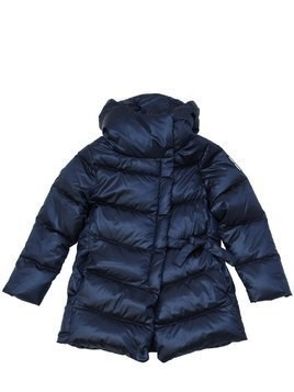 HOODED NYLON DOWN COAT