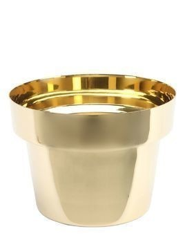 SMALL FLOWER POT POLISHED BRASS POT